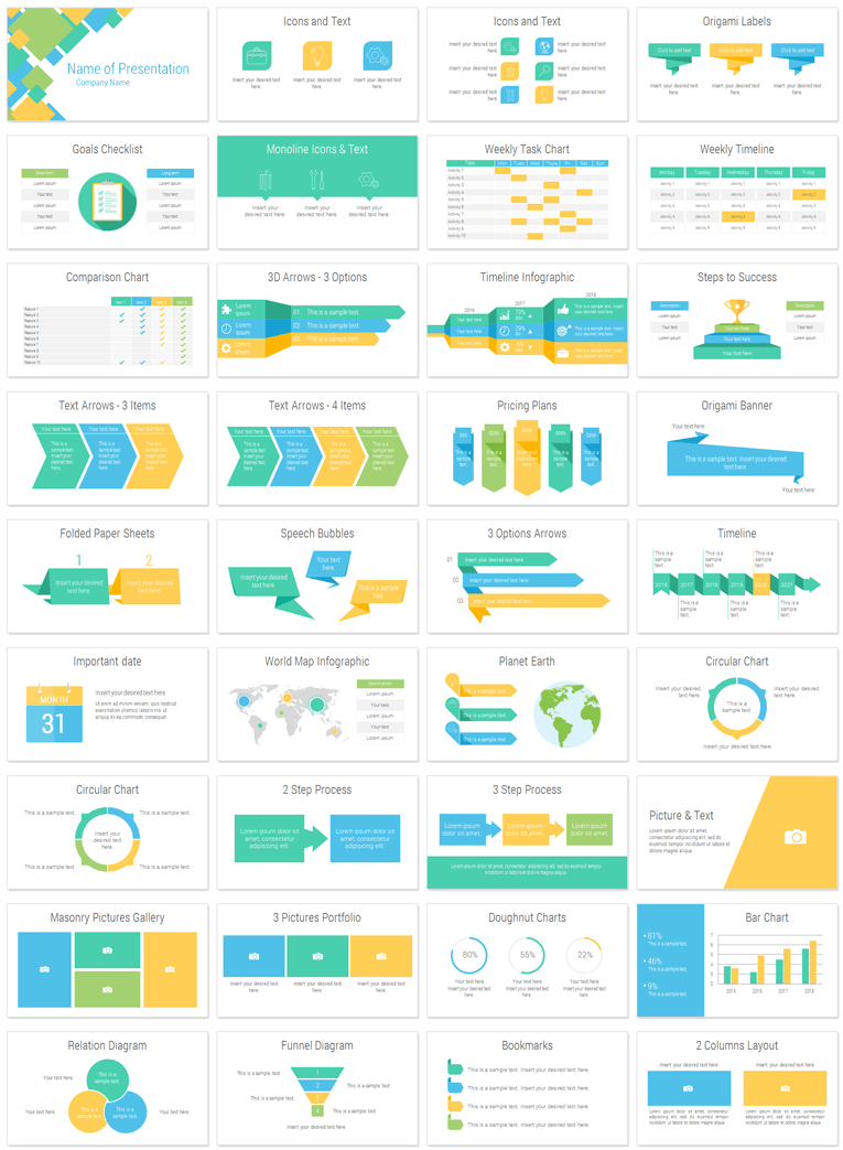 abstract squares powerpoint template presentationdeckcom