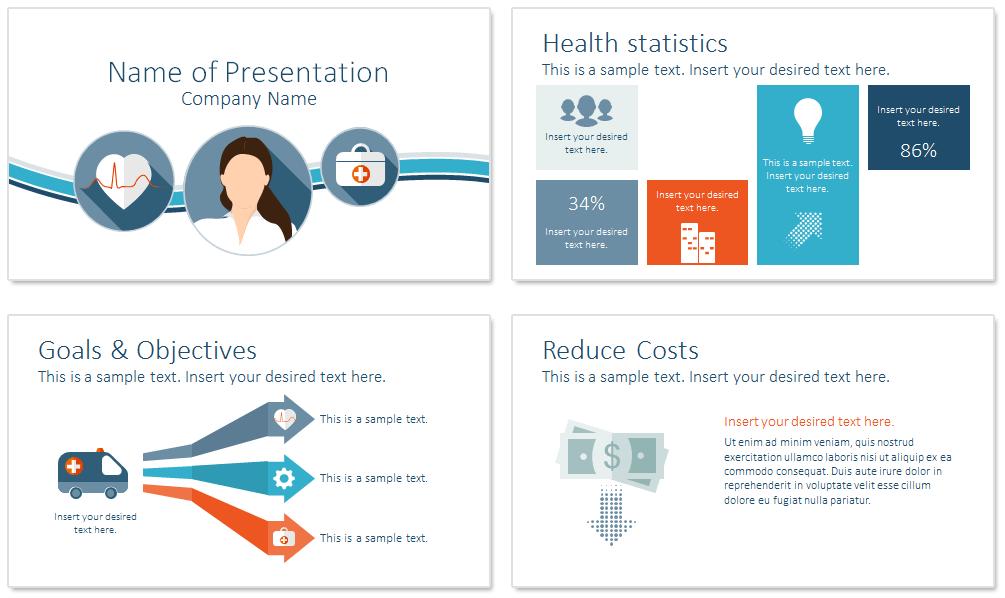 healthcare powerpoint template presentationdeckcom