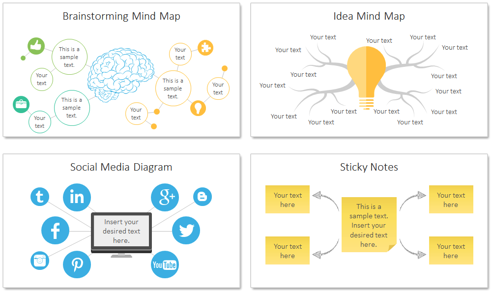 Mind map template powerpoint ccuart Image collections