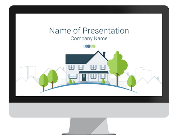 real estate powerpoint template presentationdeckcom
