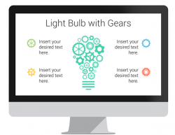 Light Bulb with Gears Infographics