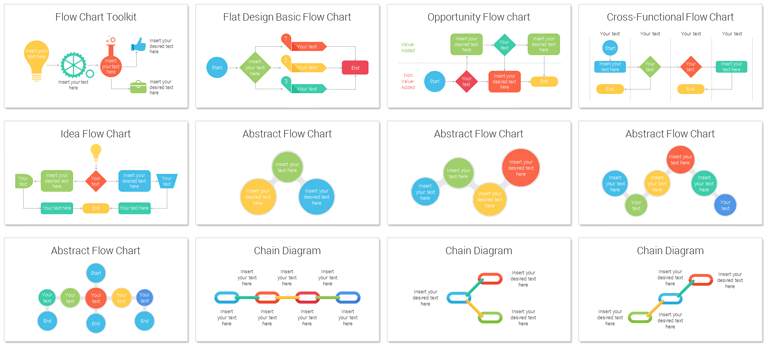 Flow Chart Toolkit for PowerPoint - PresentationDeck.com