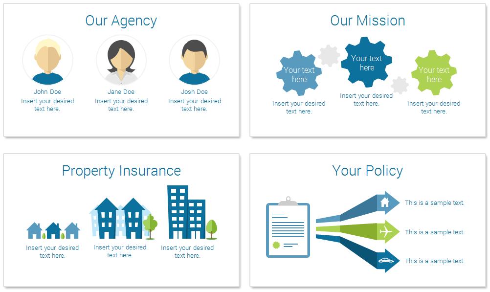 insurance powerpoint template