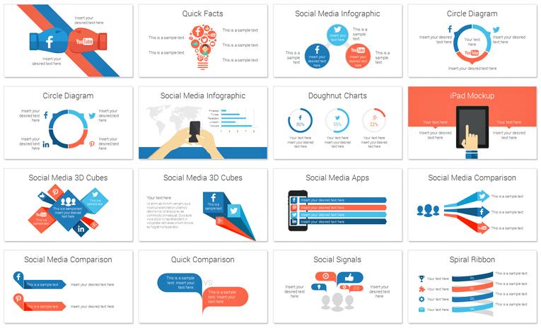 Social Media Infographics For Powerpoint