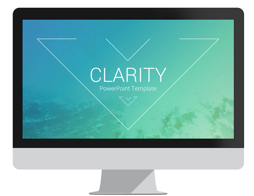 clarity powerpoint template   presentationdeck