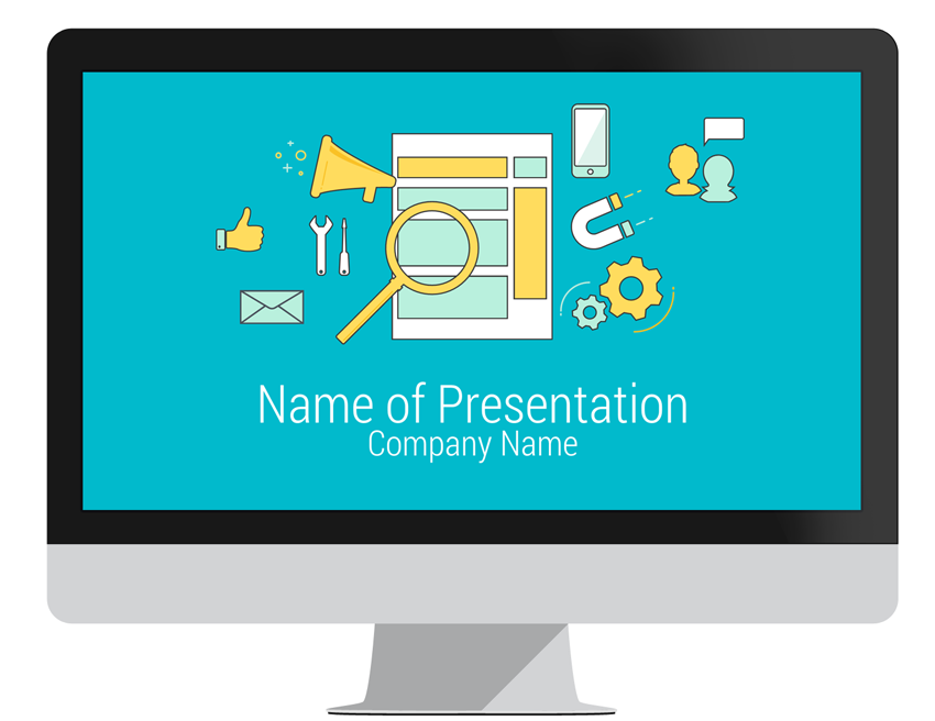 online marketing powerpoint template   presentationdeck