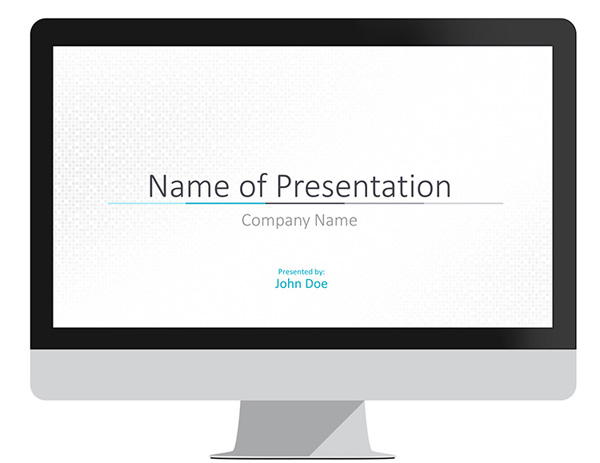 Minimal Blue PowerPoint Template