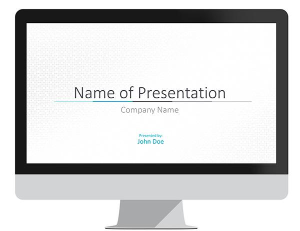 Minimal Blue PowerPoint Template