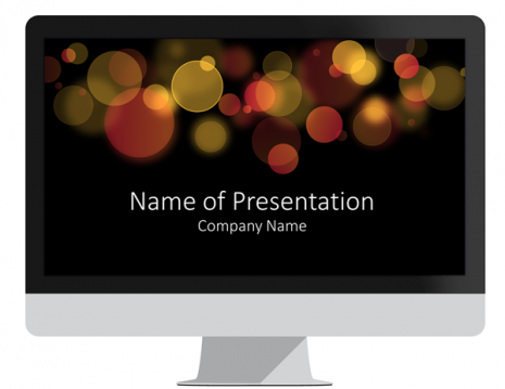 Bokeh PowerPoint Template