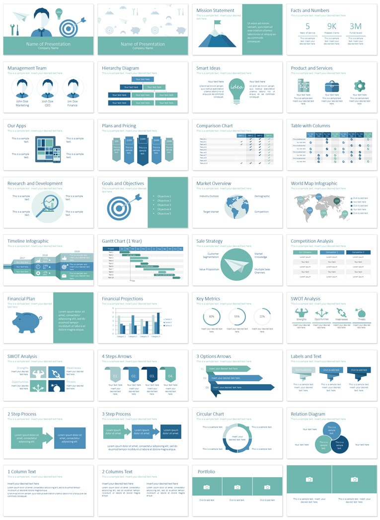 business plan powerpoint template presentationdeckcom
