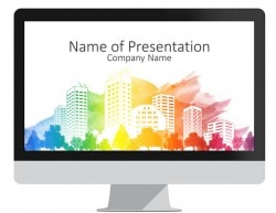 Colorful City Skyline PowerPoint Template