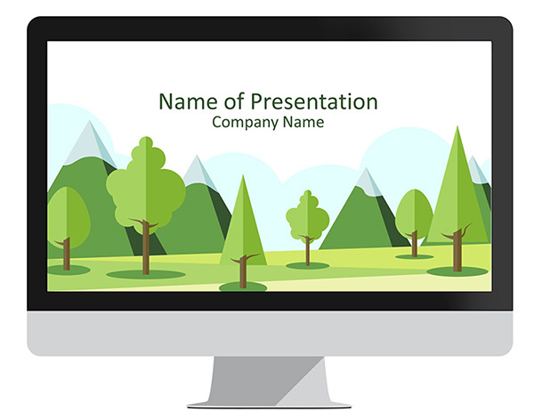 Mountain Landscape PowerPoint Template - PresentationDeck.com