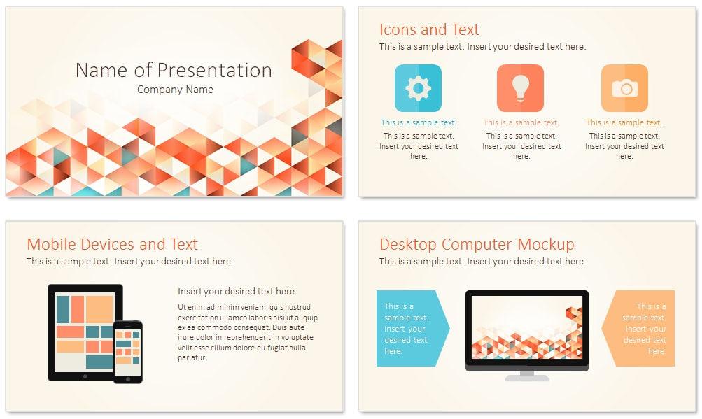 geometric triangles powerpoint template