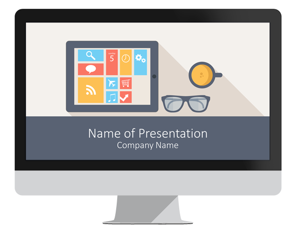 mobile technology powerpoint template - presentationdeck, Modern powerpoint