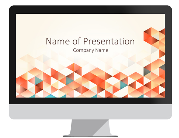 Red Geometric Triangles PowerPoint Template