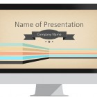 Retro Lines PowerPoint Template