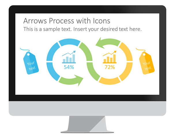 Tags and Arrows PowerPoint Template