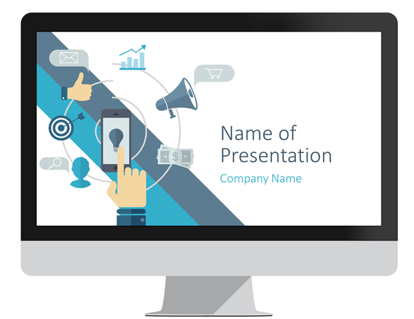 digital marketing powerpoint template - presentationdeck, Modern powerpoint