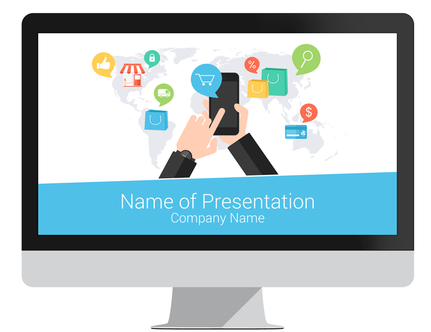 e-commerce powerpoint template - presentationdeck, Presentation templates