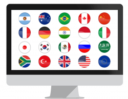 National Flag Icon Set for PowerPoint