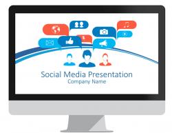 Social media infographics for powerpoint presentationdeck social media concept powerpoint template toneelgroepblik Images