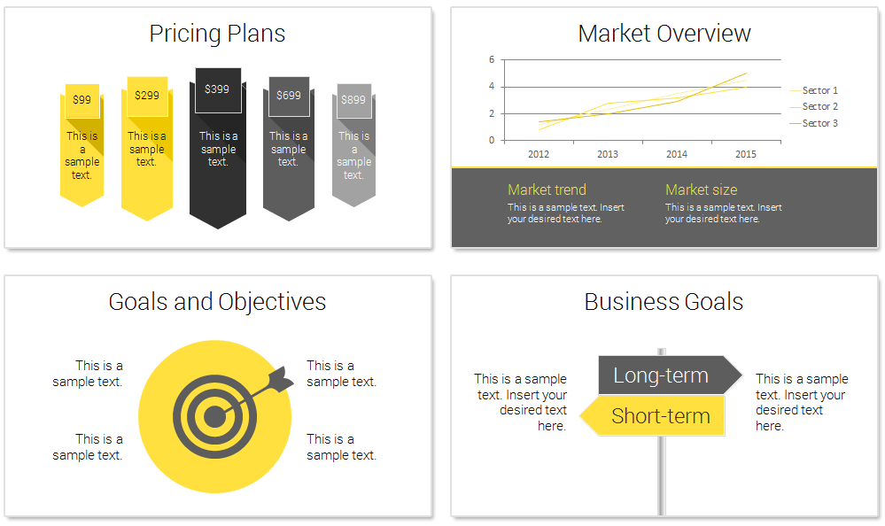 Modern Business Plan PowerPoint Template PresentationDeckcom - Creating business plan template