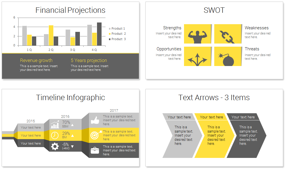 Modern Business Plan PowerPoint Template PresentationDeckcom - Full business plan template
