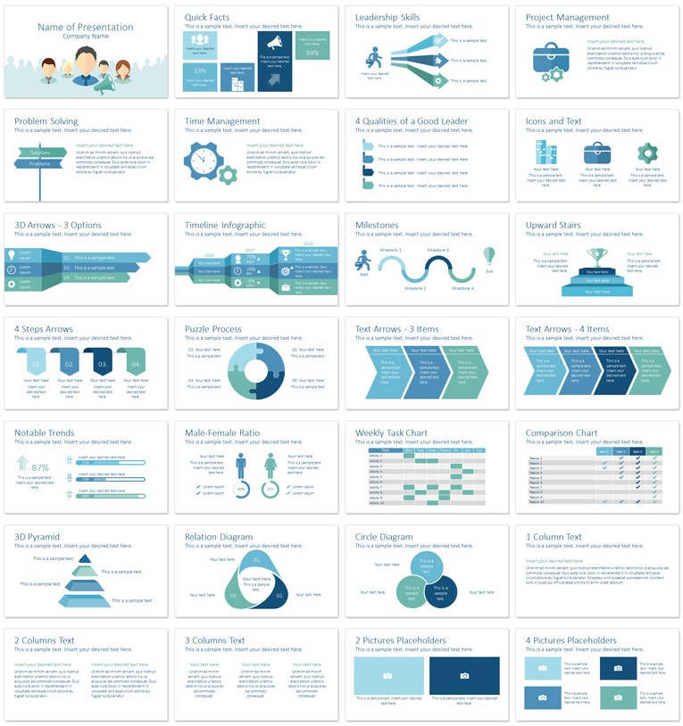 Leadership PowerPoint Template PresentationDeck – Product Description Template
