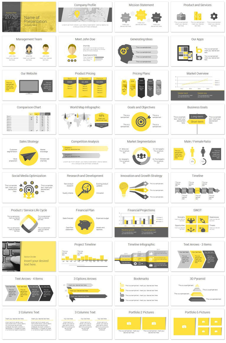Modern business plan powerpoint template presentationdeck modern business plan deck pronofoot35fo Gallery