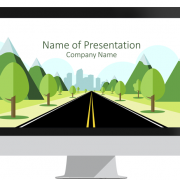 Road to City PowerPoint Template