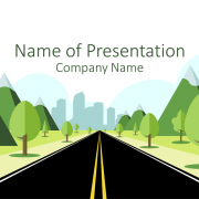 road-to-city-powerpoint-template-title-slide