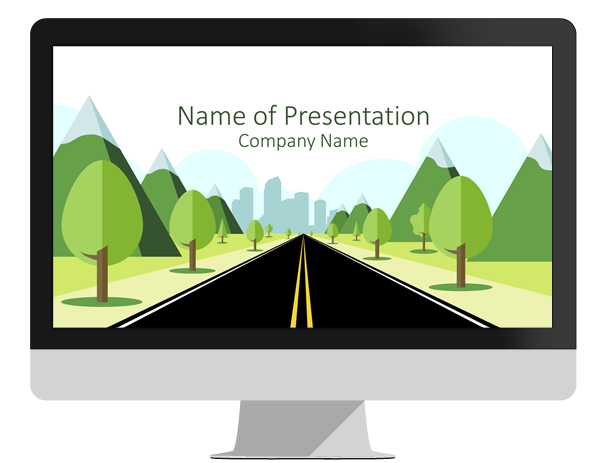Road to city powerpoint template presentationdeck road to city powerpoint template toneelgroepblik
