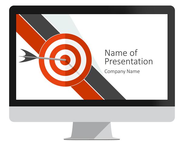 target powerpoint template presentationdeckcom