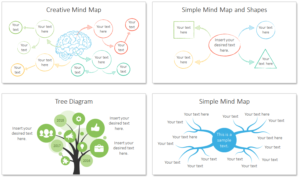 mind map powerpoint template - presentationdeck, Modern powerpoint