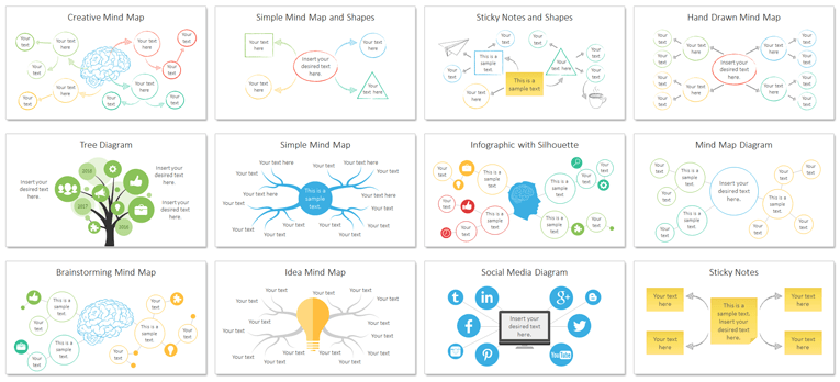 mind map powerpoint template - presentationdeck, Powerpoint templates