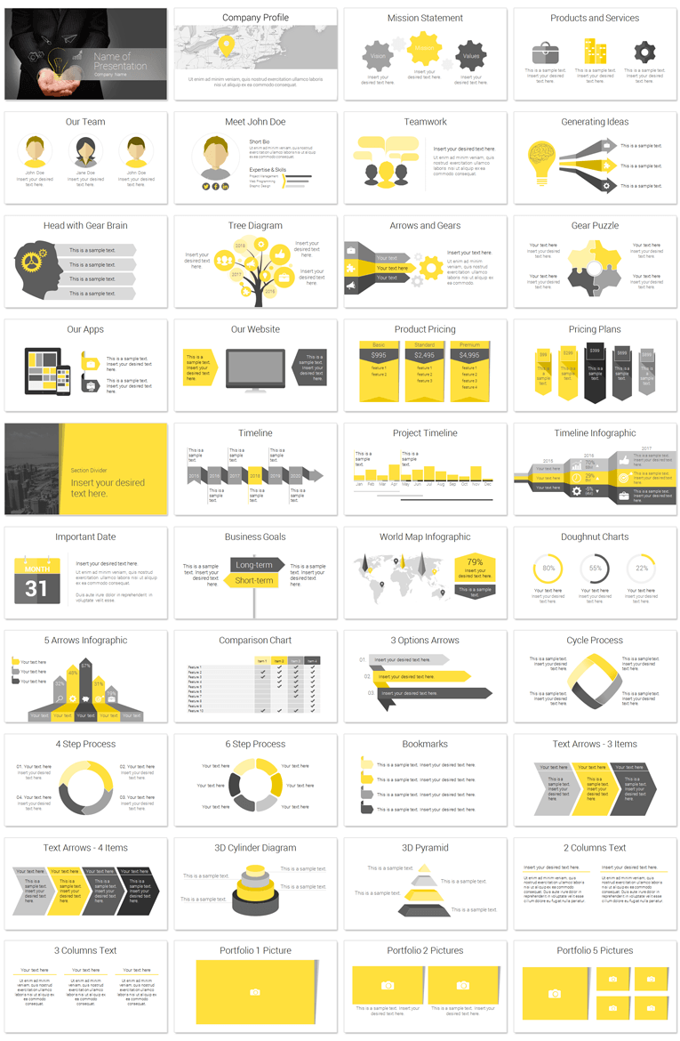 Innovation PowerPoint Template PresentationDeck – Product Description Template