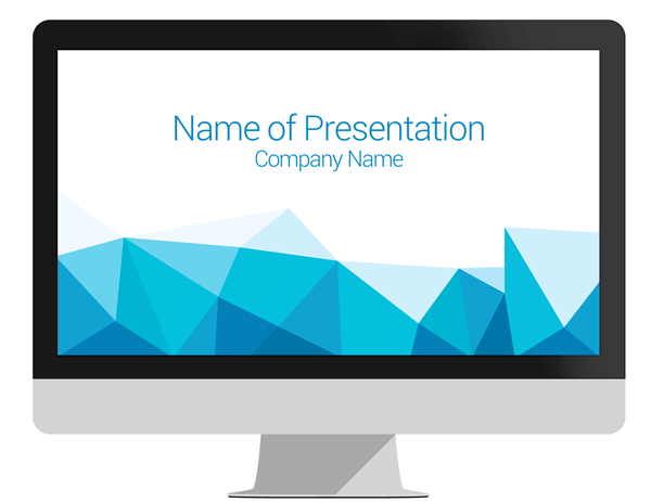 polygonal powerpoint template presentationdeck com