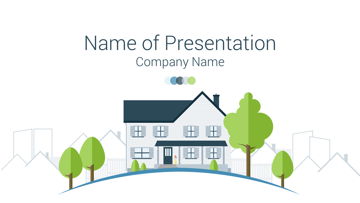 real estate powerpoint template - presentationdeck, Modern powerpoint