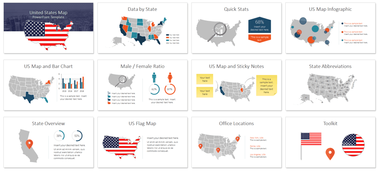 US Map PowerPoint -PresentationDeck.com