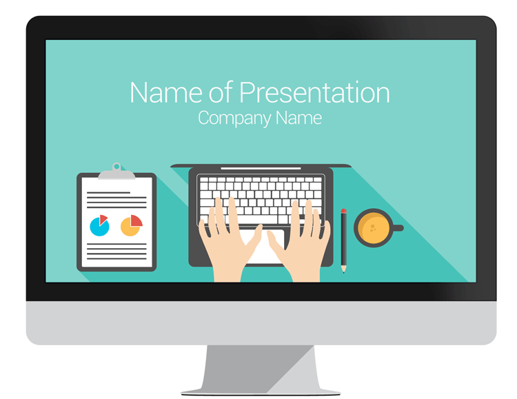 Computer PowerPoint Template PresentationDeckcom