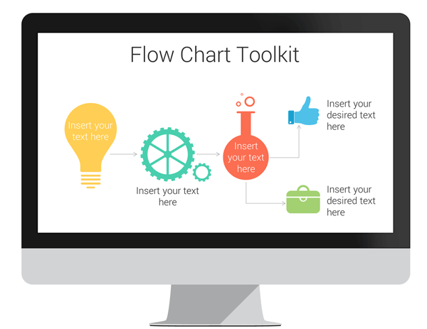 Flow Chart Toolkit For Powerpoint Presentationdeck