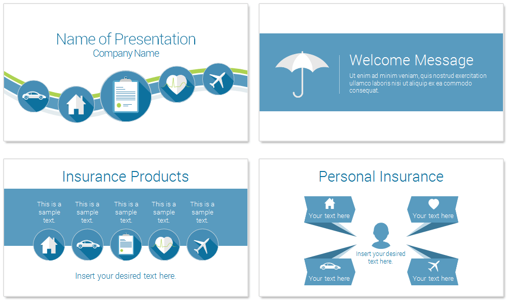 insurance ppt free template  Insurance PowerPoint Template - PresentationDeck.com