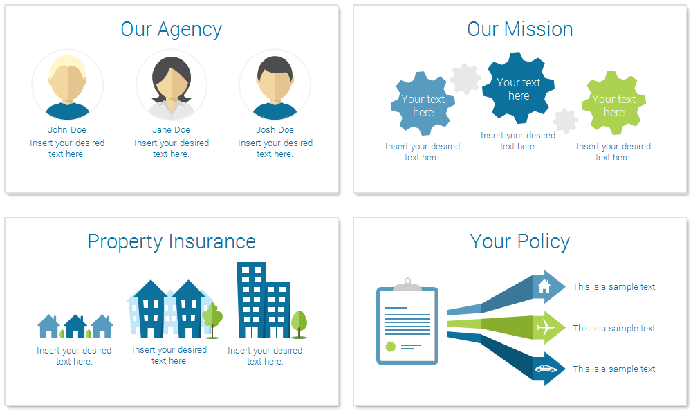 ppt template for insurance  Insurance PowerPoint Template - PresentationDeck.com