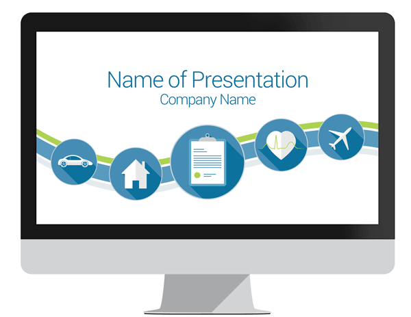 insurance template ppt  Insurance PowerPoint Template - PresentationDeck.com