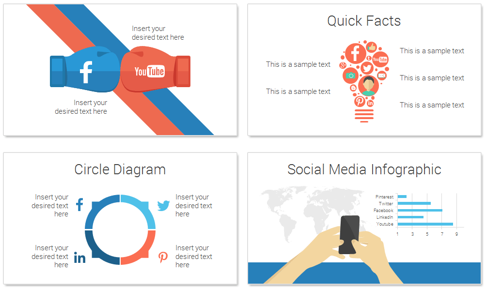 social media infographics for powerpoint