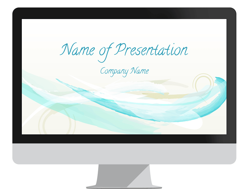 Abstract watercolor powerpoint template presentationdeck abstract watercolor powerpoint template toneelgroepblik