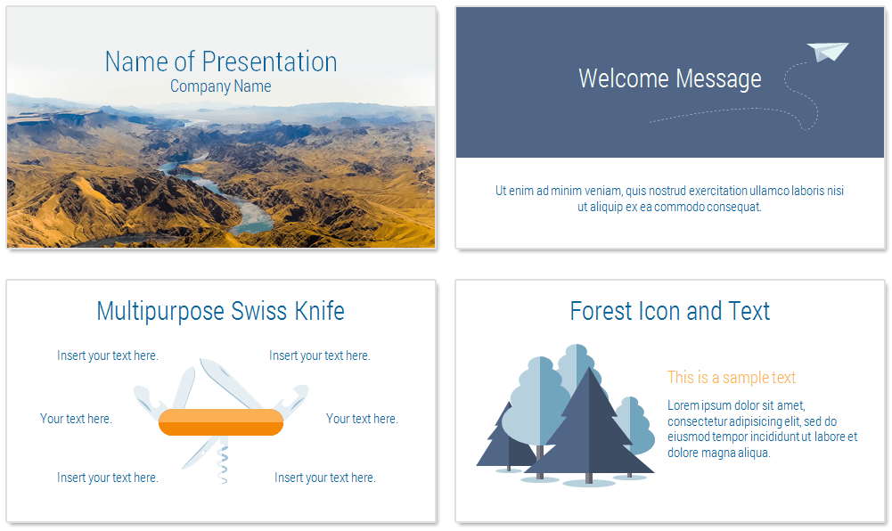 mountain landscape powerpoint template presentationdeckcom