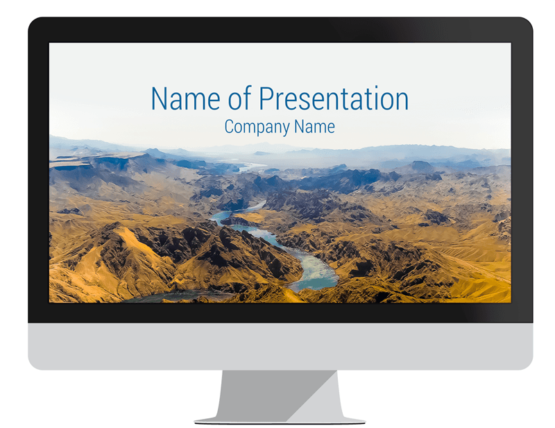 Mountain Landscape Powerpoint Template Presentationdeck