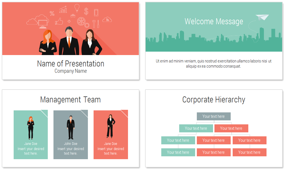 Teamwork PowerPoint Template - PresentationDeck.com