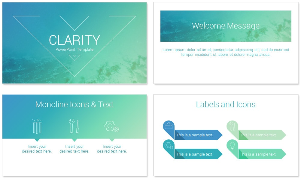 Clarity PowerPoint Template - PresentationDeck.com